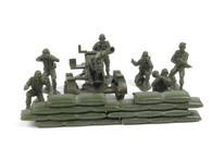 New-Ray NRAM002 American Infantry Plastic Soldiers with Artillery Gun and Sandbag Sections