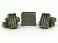 New-Ray NRAM004 Artillery Gun Ammo Boxes Plastic 1/32 Scale