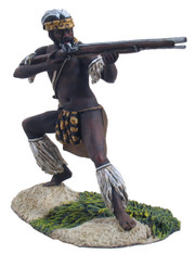 WBritain 20090 Zulu Warrior Firing Flintlock Musket No. 1