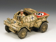 King & Country AK085 WWII Diamler Dingo Armoured Car (Afrika Korps version)