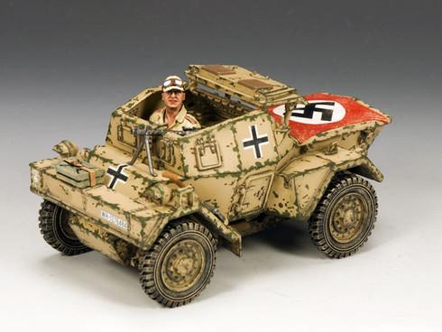 King & Country AK085 WWII Diamler Dingo Armoured Car (Afrika Korps version)