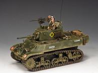 "King & Country WWII British M3A3 ""Stuart"" Light Tank"