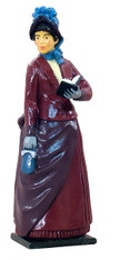 WBritain Classic 54mm Metal Figurine 60004 Petticoats Lady In Walking Dress
