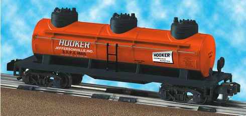 American Flyer Lionel  6-48415 Hooker Chemicals Three-Dome Tank Car S Gauge
