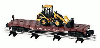 American Flyer Lionel  6-48528 Conrail Flatcar with Wheel Loader S Gauge