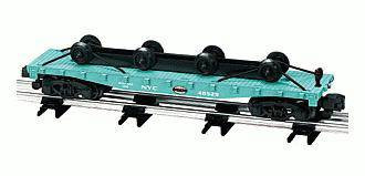 American Flyer Lionel  6-48529 New York Central Flatcar with Wheel Load S Gauge