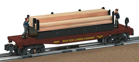 American Flyer Lionel  6-49015 West Side Lumber Moe Joe Operating Flatcar