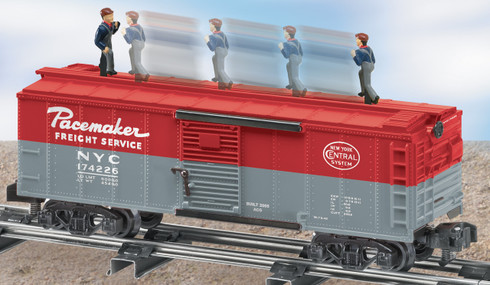 American Flyer Lionel  6-49023 New York Central Walking Brakeman Boxcar S Gauge