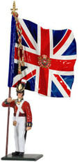 WBritain Soldier 54mm Redcoats 44062 British Infantry King's 8th Regiment Of Foot Ensign With King's Colour