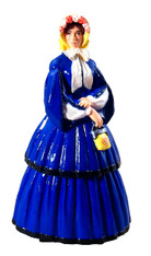 WBritain 60006 Clara in Afternoon Dress with Pagoda Sleeves 1858-1864