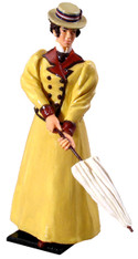 WBritain 60007 Sarah in Walking Suit with Straw Boater 1895
