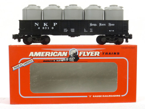 American Flyer Lionel  6-48510 Nickel Plate Road Gondola with Canisters
