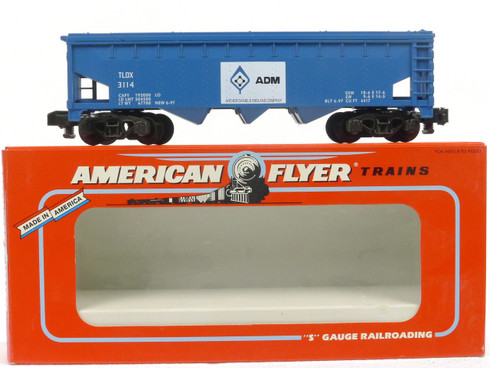 American Flyer Lionel  6-48612 ADM Three Bay Covered Hopper S Gauge