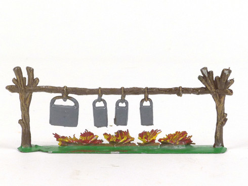 Hornung Art Miniature Metal Cast Campfire with Hanging Pots 63L Hand Painted