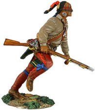 W. Britain Eastern Woodland Indian Running with Musket #2