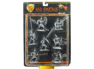 Conte Collectibles Spartans Plastic Figures Set Two of Nine in Silver