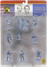 Conte Collectibles American Civil War Iron Brigade Plastic Figures Union Infantry Set Two in Blue