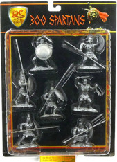 Conte Collectibles Spartans Plastic Figures Set Eight of Nine in Silver