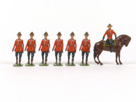 W Britain 1554 Royal Canadian Police 1 Mounted and 6 Dismounted Summer Dress