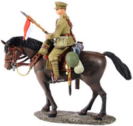 W Britain 23062 WWI British Lancer Mounted No 1 1/30 Scale Toy Soldier 1916-18