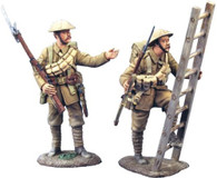 W Britain 23026 WWI British Infantry Ladder Set No 1 NCO And Private With Ladder