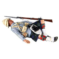 W Britain 27058 British 42nd Highlander Casualty On Back 1/30 Scale Toy Soldier