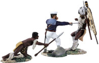 W Britain 20129 Seaman Aynsleys Demise Hand To Hand Set Zulu War 1/30 Scale