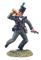 W Britain 36045 British 95th Rifles Bugler Advancing No 1 Napoleonic Soldier