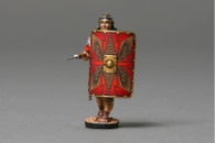 Thomas Gunn Miniatures ROM001A Advancing with Pilum lowered (red shield) Roman Empire