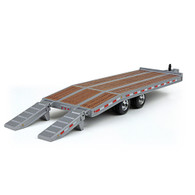 First Gear 50-3192 1/50 scale Silver Beavertail Trailer ramps folded down