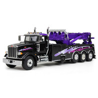 First Gear 50-3343 1/50 scale Black/Purple Peterbilt Model 367 with Century Rotator Wrecker