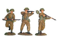 W Britain 17713 WWII British Infantry Advancing Set No 2 1/30 Scale Toy Soldiers
