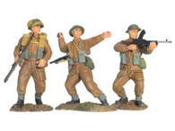 W Britain 17714 WWII British Infantry Advancing Set No 1 1/30 Scale Toy Soldiers