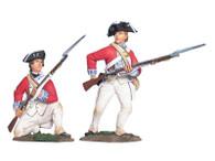 W Britain 17963 British 17th Foot Firing Line Set No 2 American Revolution 1/30