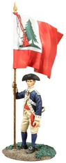 W Britain Soldiers 18053 Colonial Militia Flagbearer No 1 Bunker Hill Colors