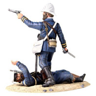 W Britain 27021 Close Call British Naval Brigade Officer Defending Royal Navy