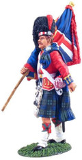 W Britain 10019 Black Watch Colour Party Ensign With Queens Colour 1/30 Scale