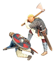 WBritain 62122 Overwhelmed Viking Striking Downed Saxon Wrath of the Northmen