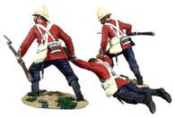 "WBritain 20177 ""Rescue"" British 24th Foot Dragging Comrade No.1 Anglo-Zulu War"