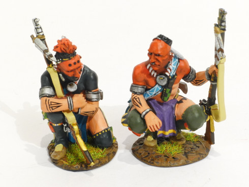 John Jenkins Designs Toy Soldiers Raid of St. Francis 1759 Woodland Indians Waiting Patiently RSF-09