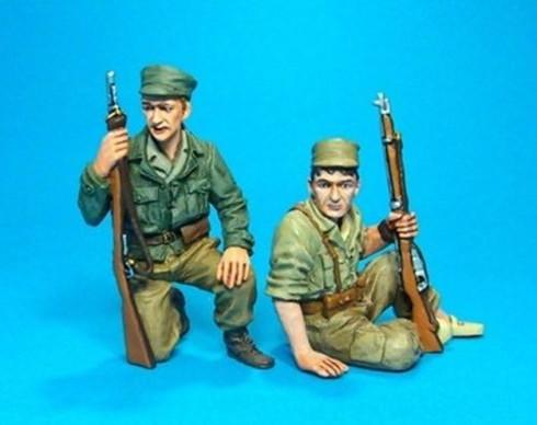 John Jenkins Designs Soldiers REP-01C The Spanish Civil War Tank Riders No 2