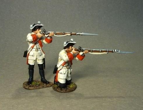 John Jenkins Designs ROT-04 Roth Wurzburg Infantry Regiment 2 Figures Firing