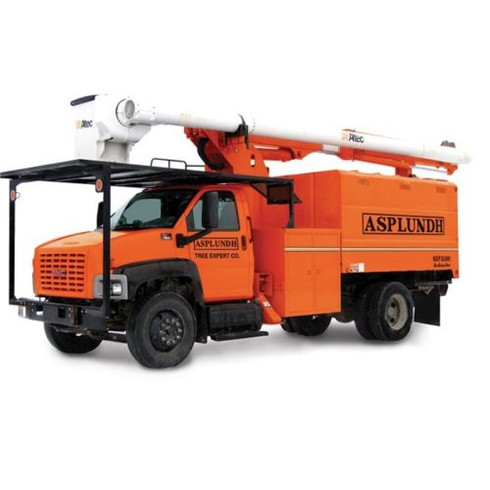 First Gear Diecast 1/34 Scale Asplundh GMC 7500 Overcenter Bucket Truck 10-4023
