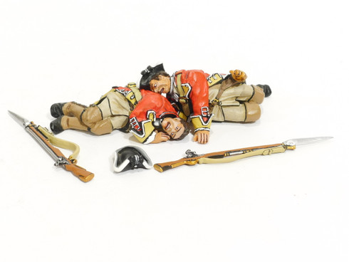John Jenkins Designs Toy Soldiers Battle on the Monongahela 1755 44th Regiment of Foot Line Infantry 2 Casualties BM-26