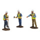 First Gear Metal Construction Figures 1/50 Scale O Scale Model Trains, 3 construction workers