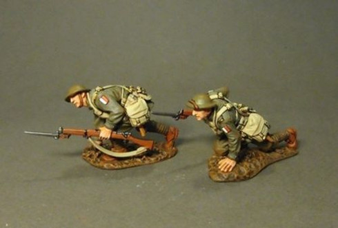 John Jenkins Designs Soldier GWA-07(60) WWI Battle Of Amienns Infantry Crawling