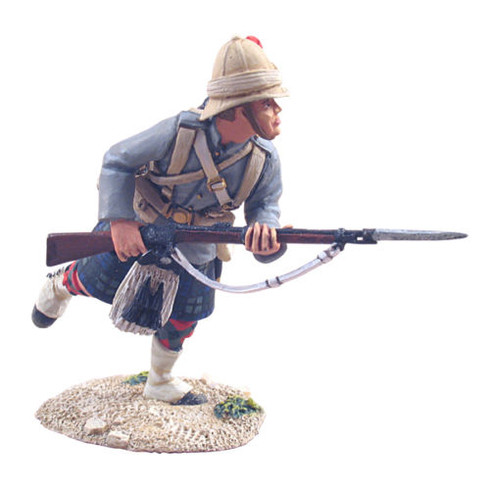W Britain 27006 British 42nd Highlander Charging No 1 War Along The Nile Soldier