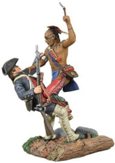 W Britain 16003 Eastern Woodland Indian Colonial Militia Hand To Hand Set 1/30