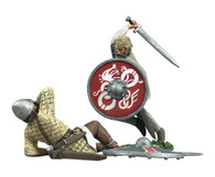 """WBritain Soldier 62115 Wrath of the Northmen """"The Contest Decided"""" Viking and Saxon Hand-to-Hand Set No.1  - Limited Edition of 350 Sets"""