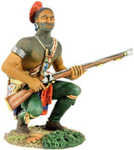 WBritain 16010 Clash of Empires Eastern Woodland Indian Squatting, Waiting with Musket